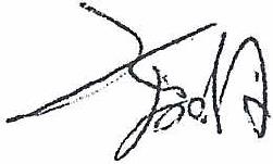 Signatur Komei Sekiguchi